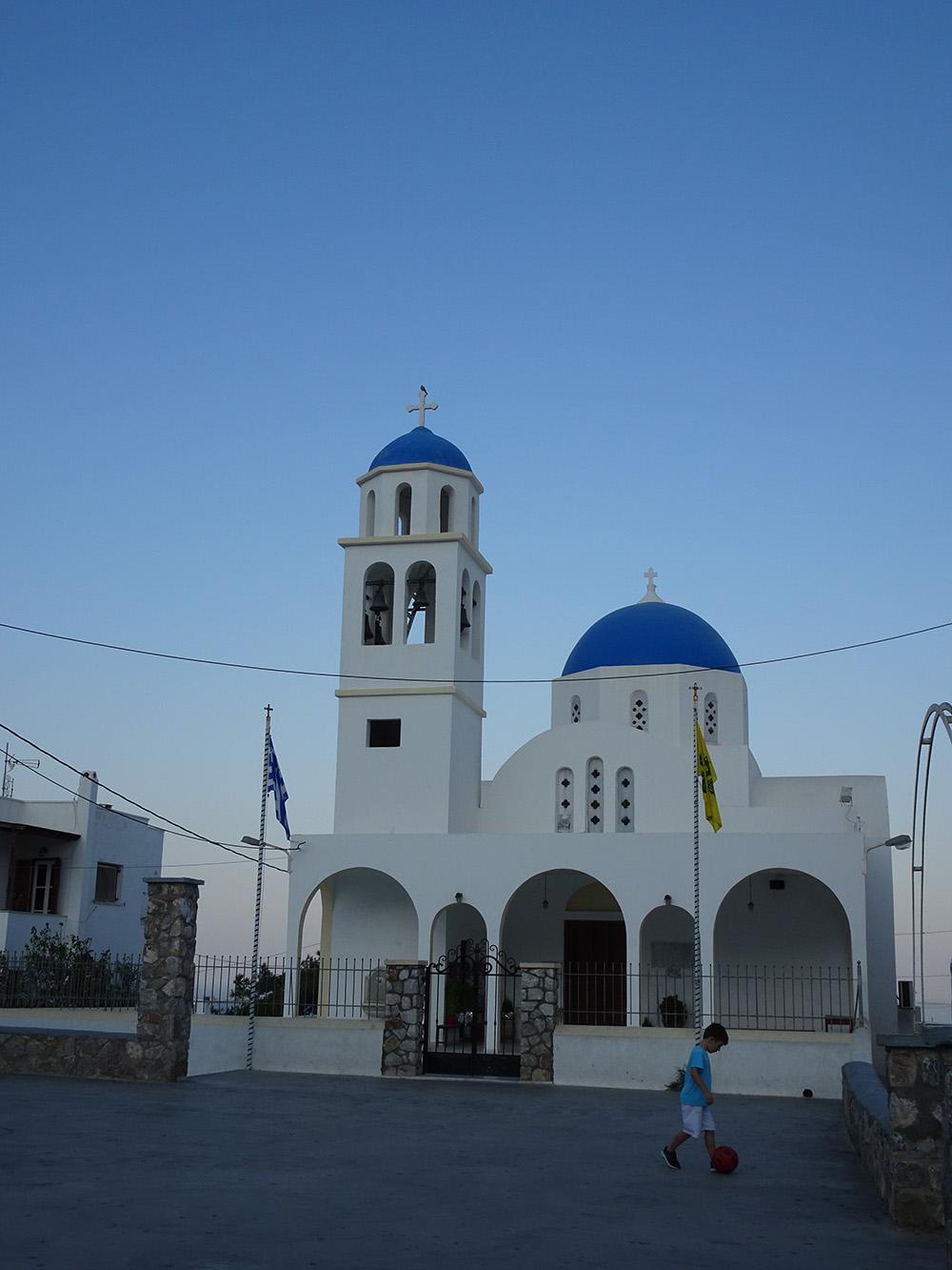 De hoofdkerk van Oia