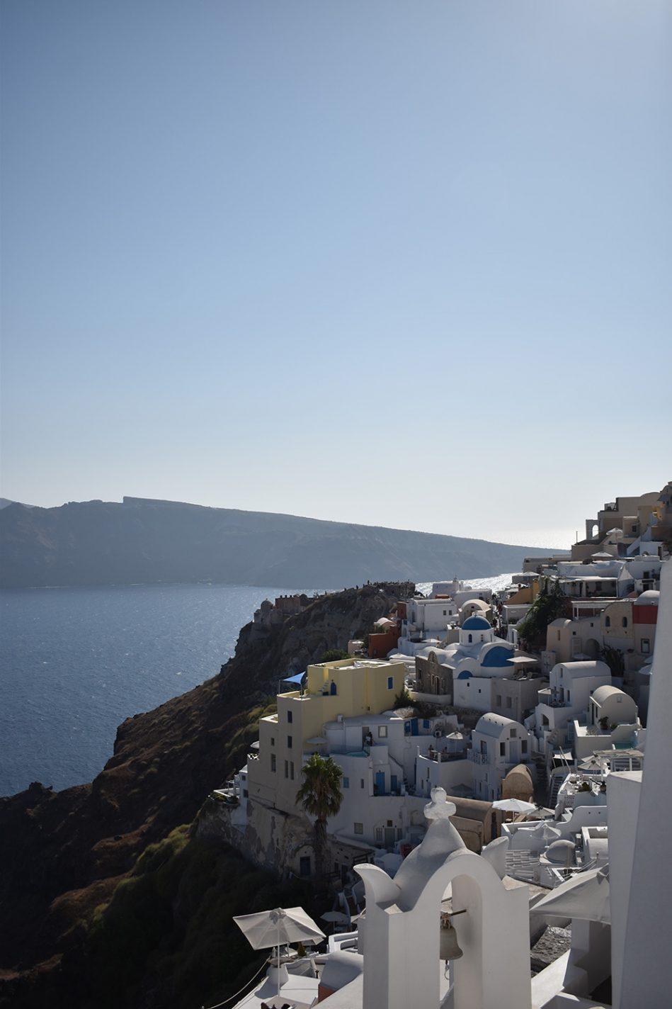 De witte huisjes van Santorini