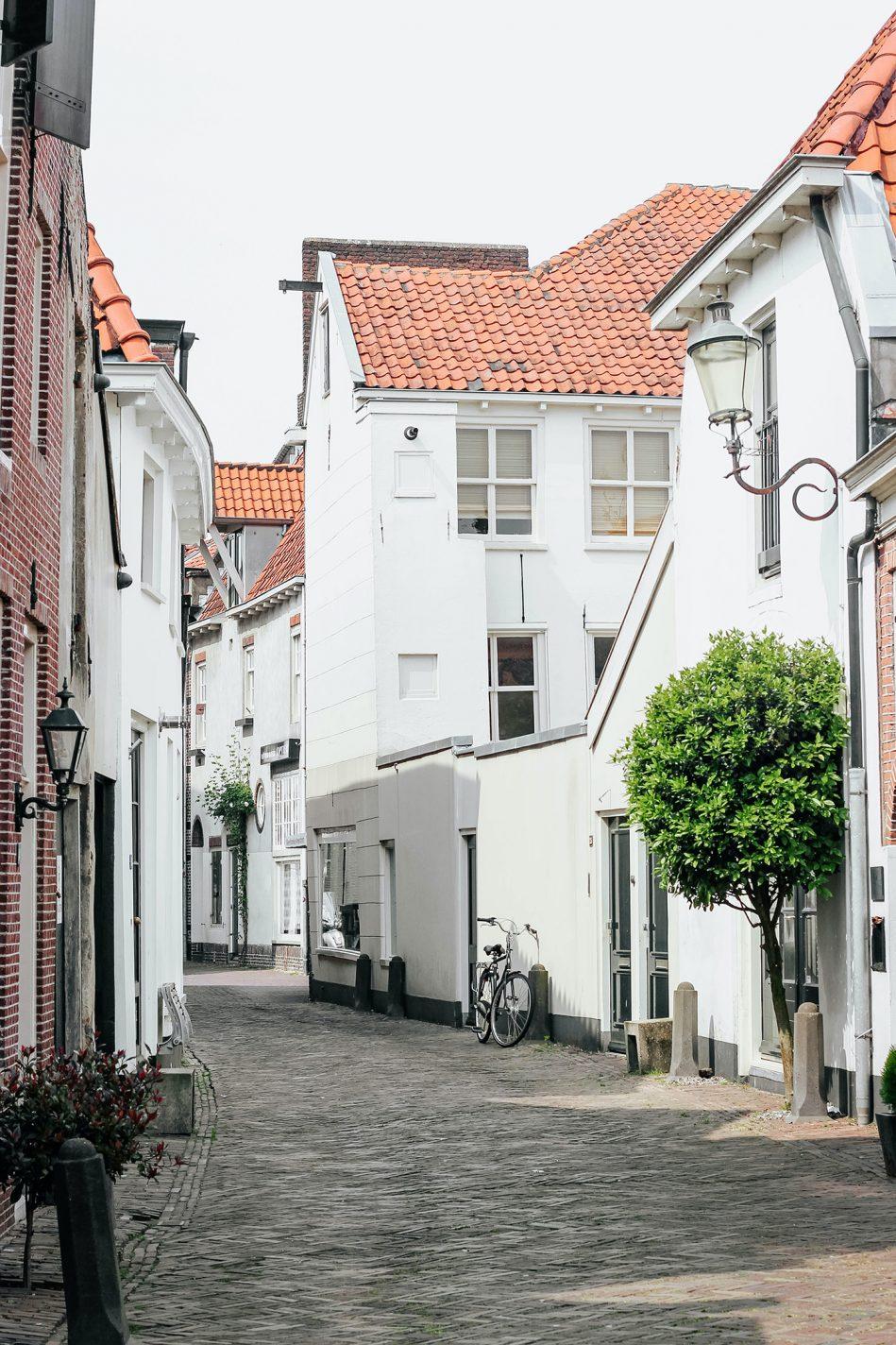 Pittoreske steegjes in de binnenstad van Amersfoort