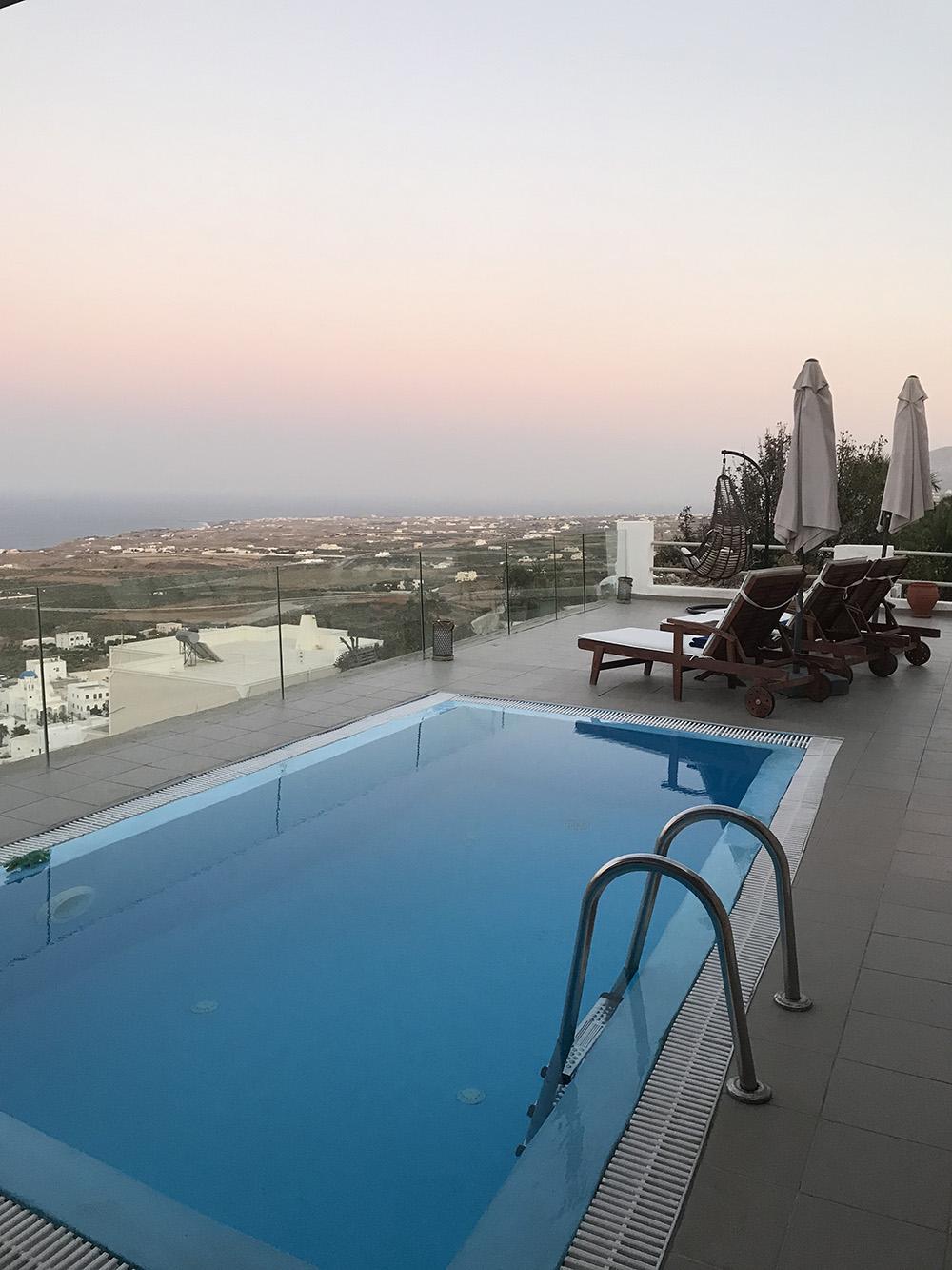 Zwembad Dream Villa Santorini