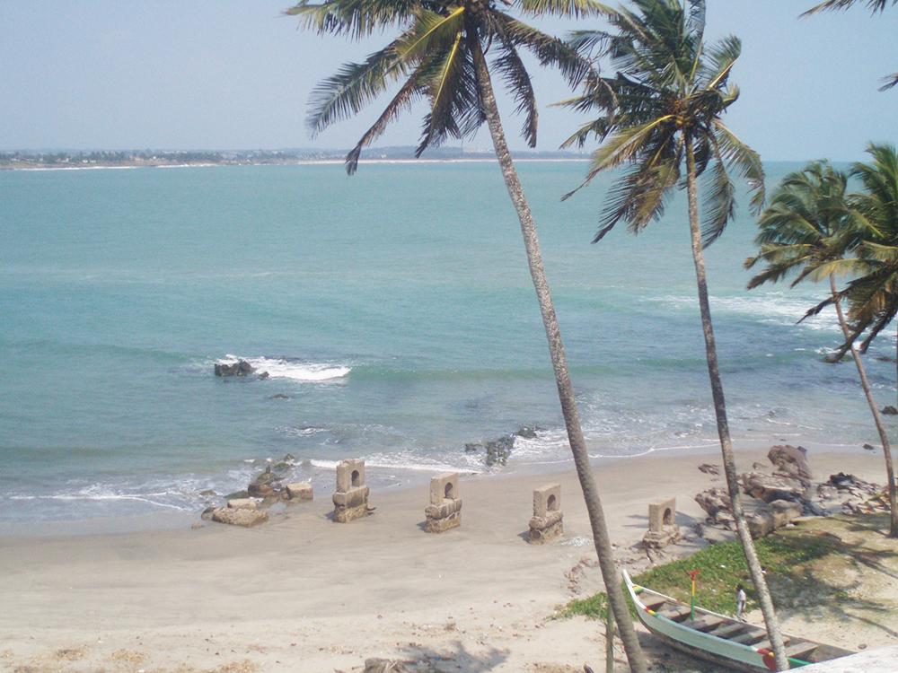 Een van de stranden van Ghana