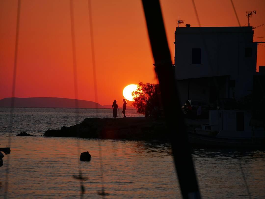 Ook deze foto is gemaakt op het Griekse eiland Amorgos, tijdens de zonsondergang.