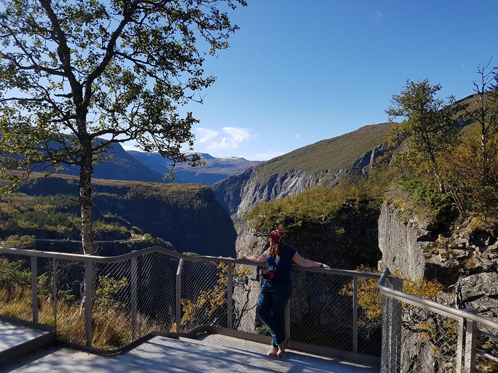 De Vøringfossen in Fossli - Zuid-Noorwegen