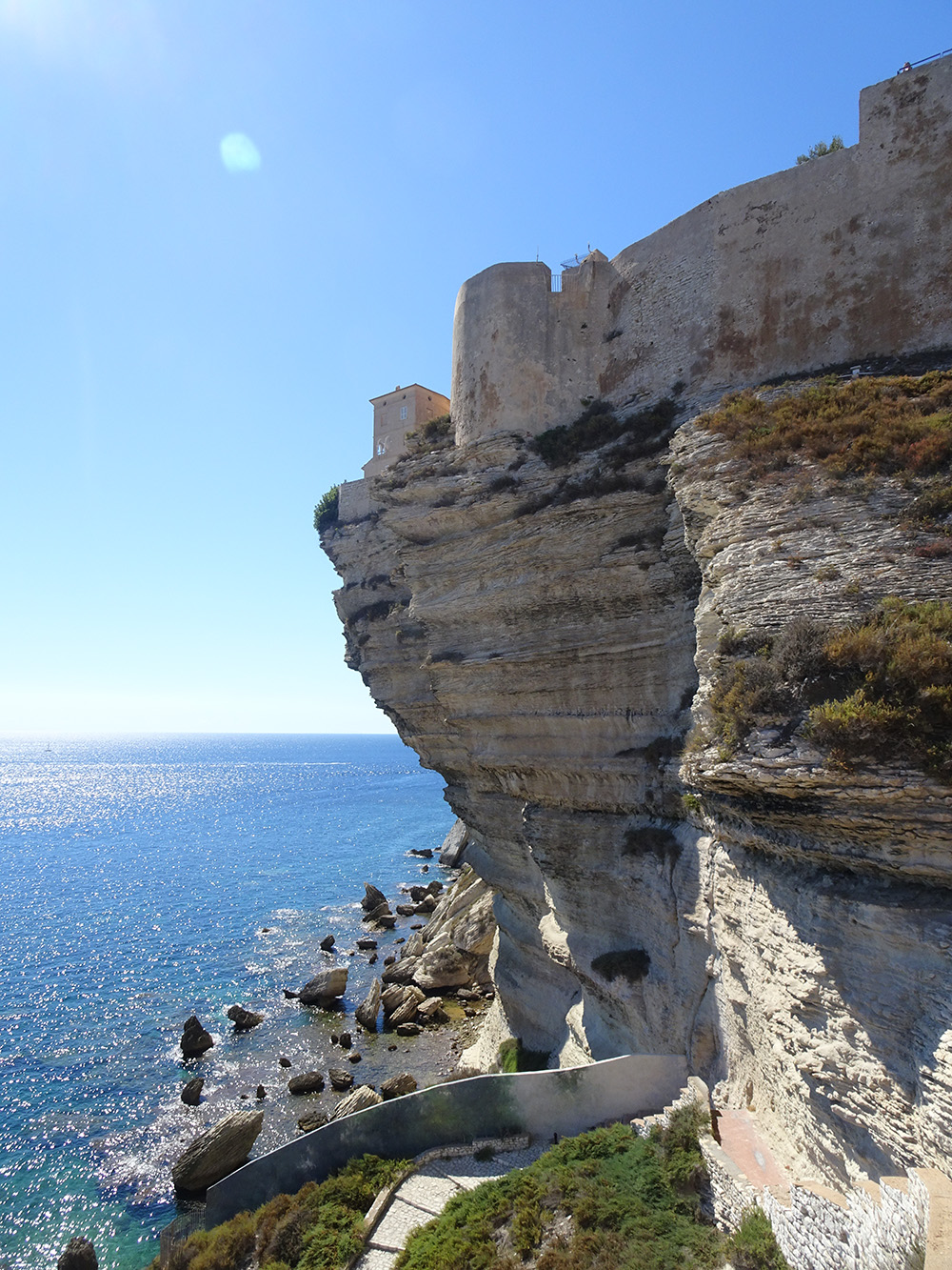 De befaamde rots van Bonifacio