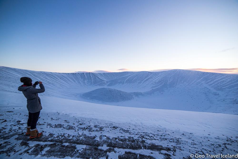 Hiken door adembenemende winterse landschappen