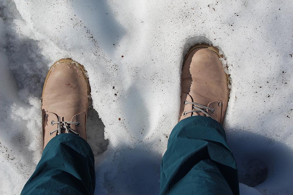 Sneeuw in nationaal park Hardangervidda - Zuid-Noorwegen