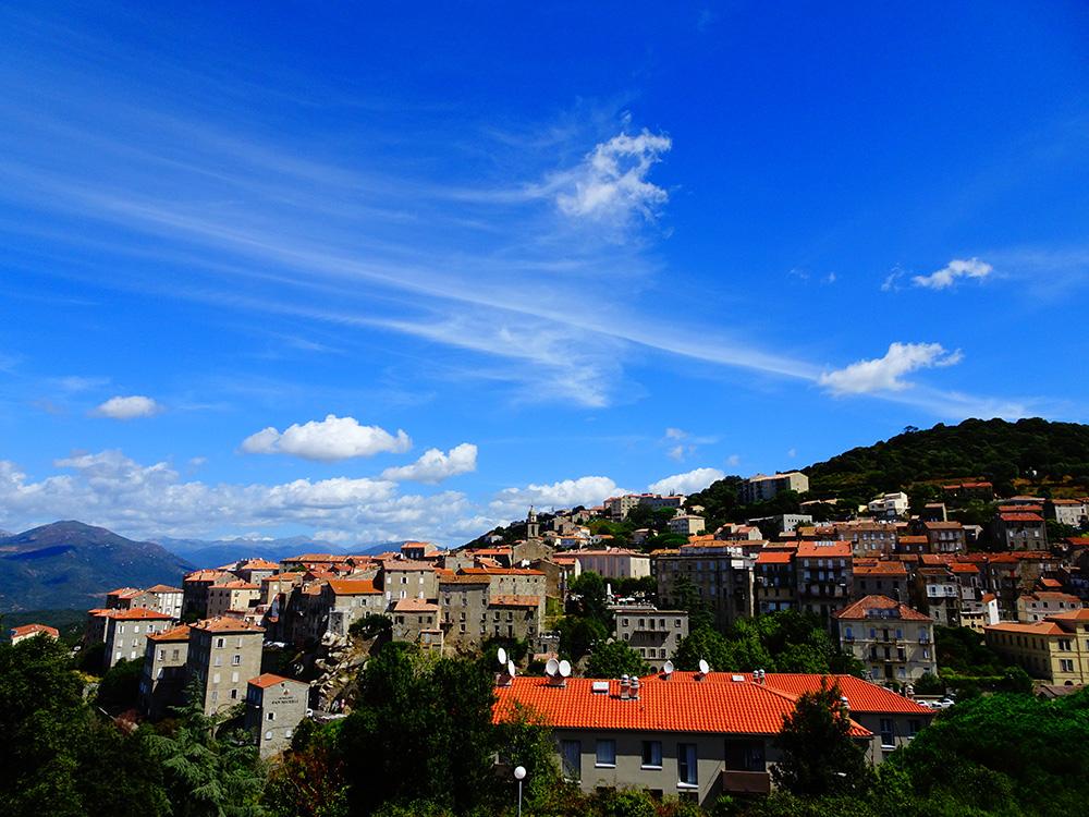 Uitzicht op Sartène