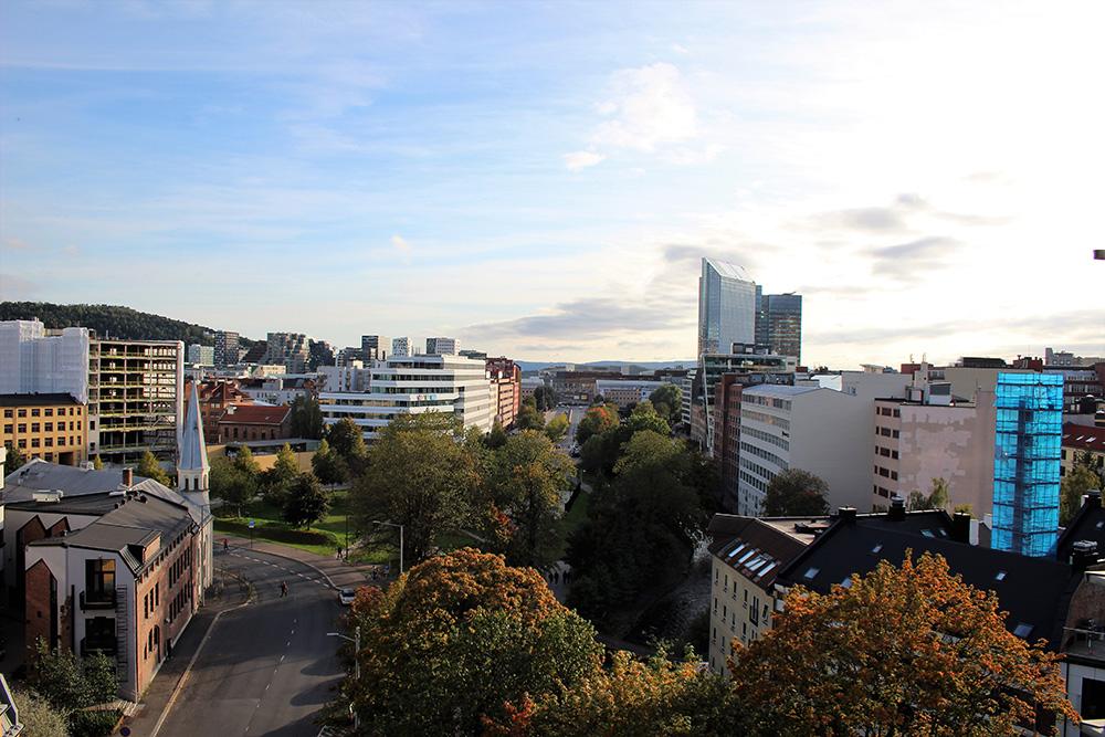 Uitzicht over Oslo vanuit ons appartement van Akers Have Apartments