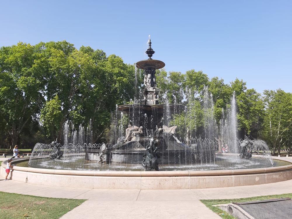 In een park bij Mendoza