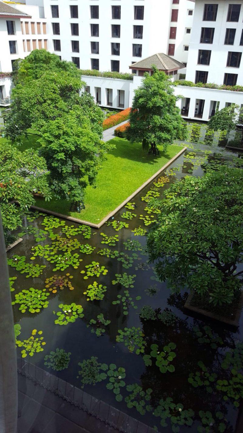 Groene tuin in Bangkok