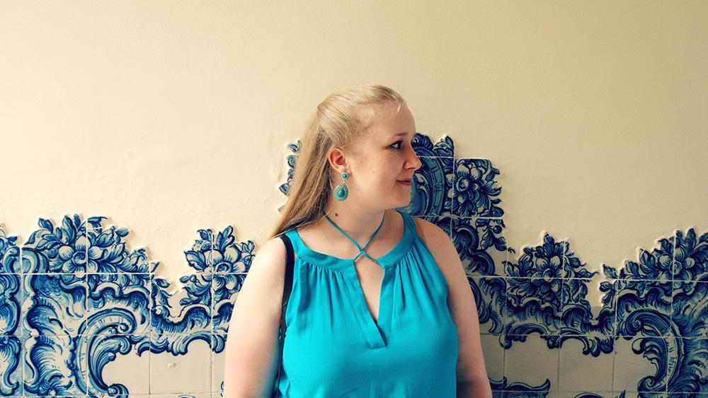 Gastblogger Valerie met azulejos in Funchal