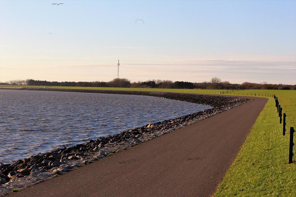 Ergens op de dijk tussen Hollum en Nes