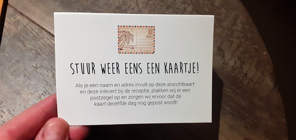 Een gratis ansichtkaartje naar een dierbare sturen vanaf Ameland. Hoe leuk?!