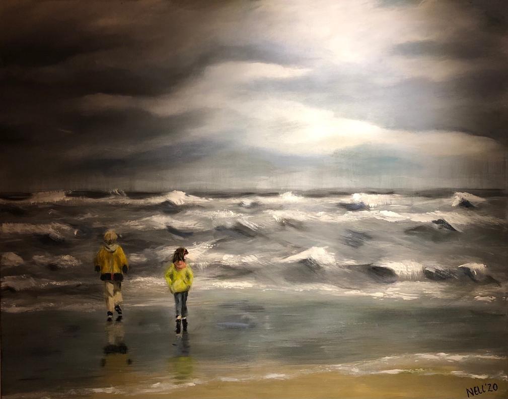 Schilderij gemaakt door hobby schilderes Nell Heerspink