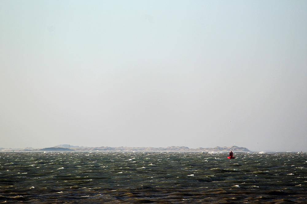 Uitzicht op het Borndiep en Terschelling