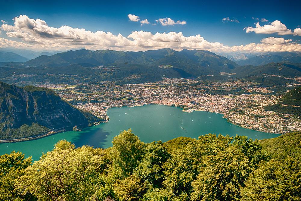 Uitzicht op de stad Como - Comomeer