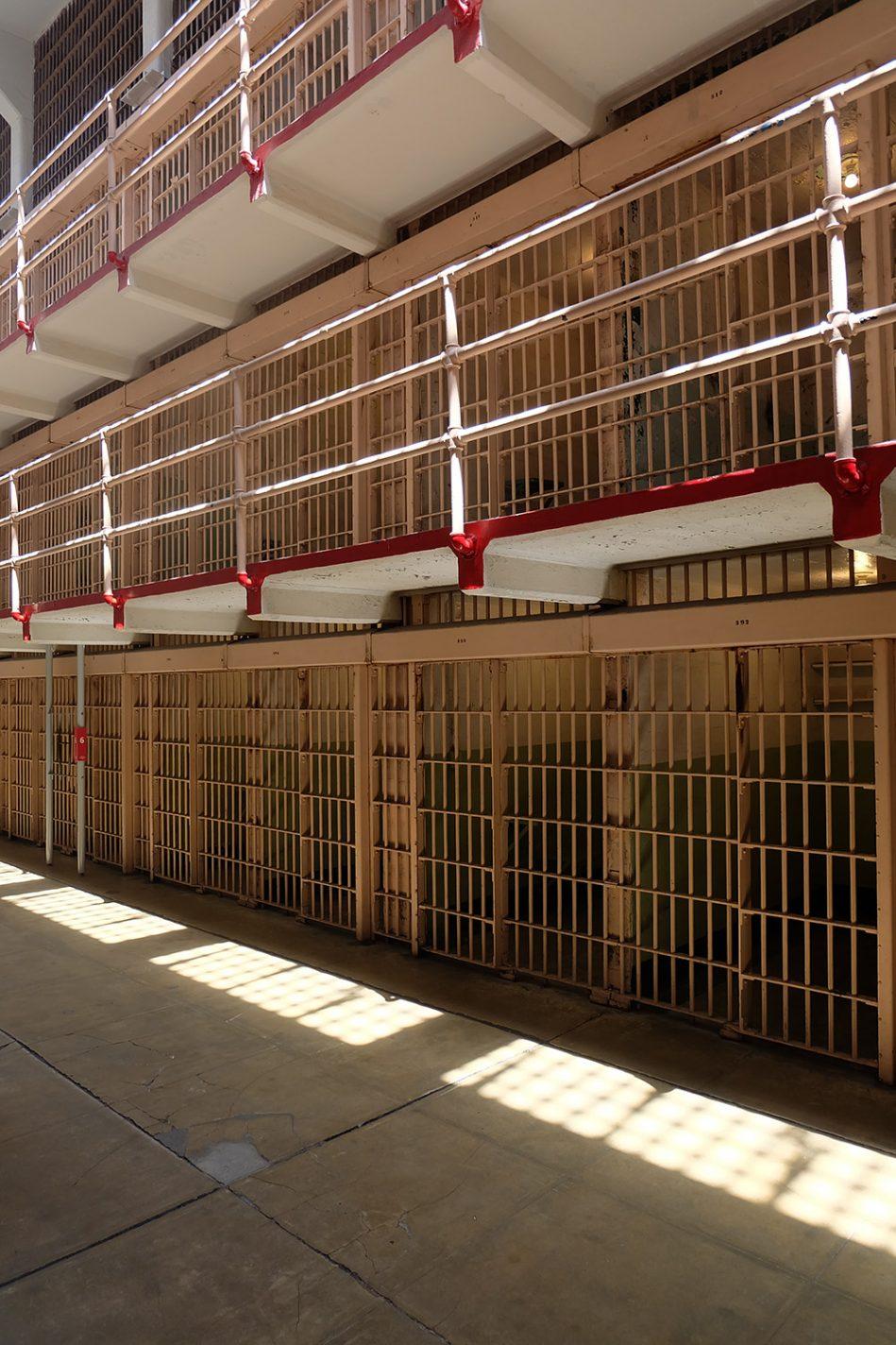 De celblokken van Alcatraz