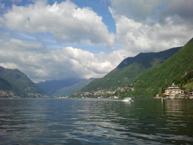 Lago di Como vanaf de veerboot