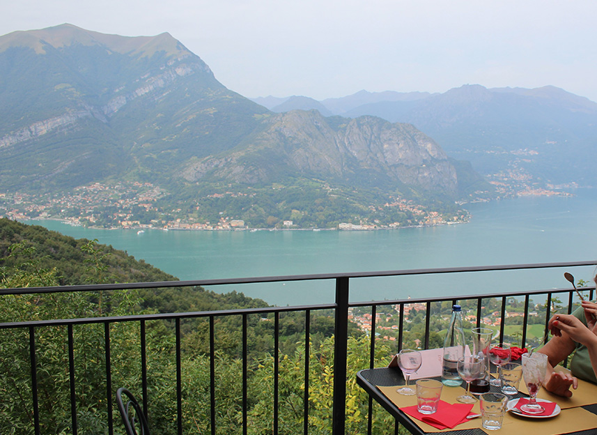 Lunch met uitzicht bij Trattoria Baita Belvedere