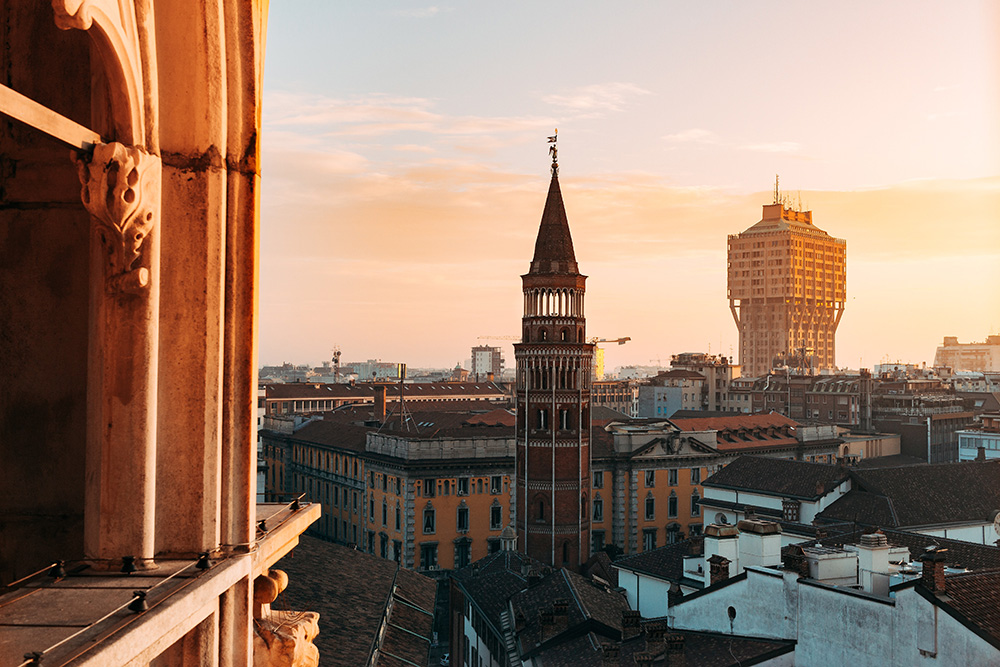 Metropolitane stad Milaan