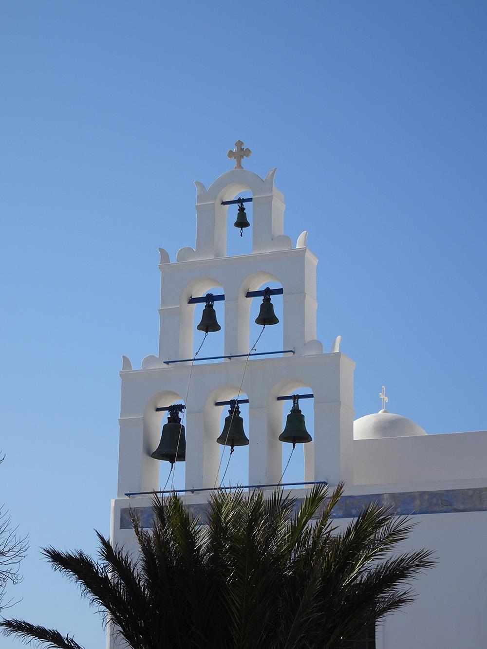 Witte gebouwen op Santorini