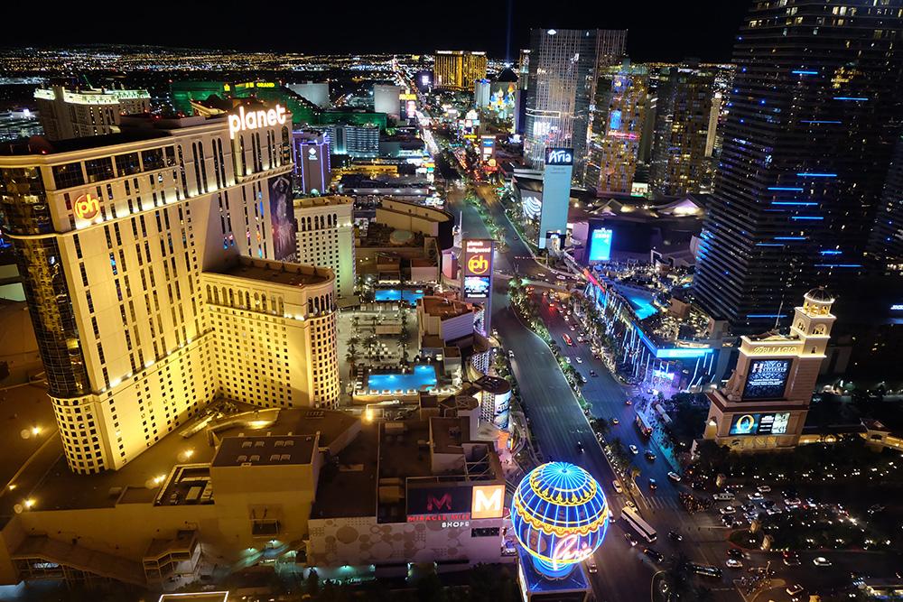 Las Vegas vanaf de Eifeltoren