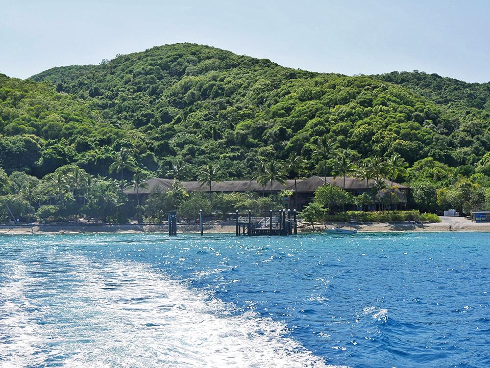 Fitzroy Island resort vanaf het water