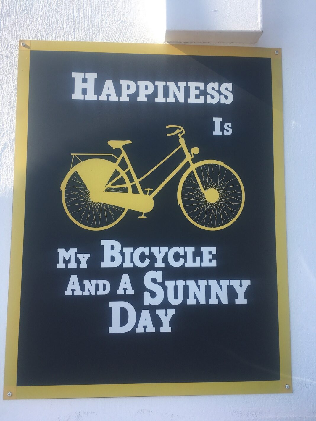 Happiness is my bicycle and a sunny day
