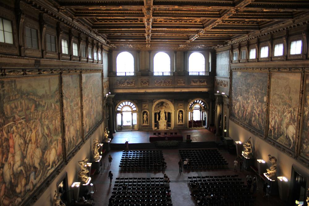 De imposante Salone dei Cinquecentro in Palazzo Vecchio