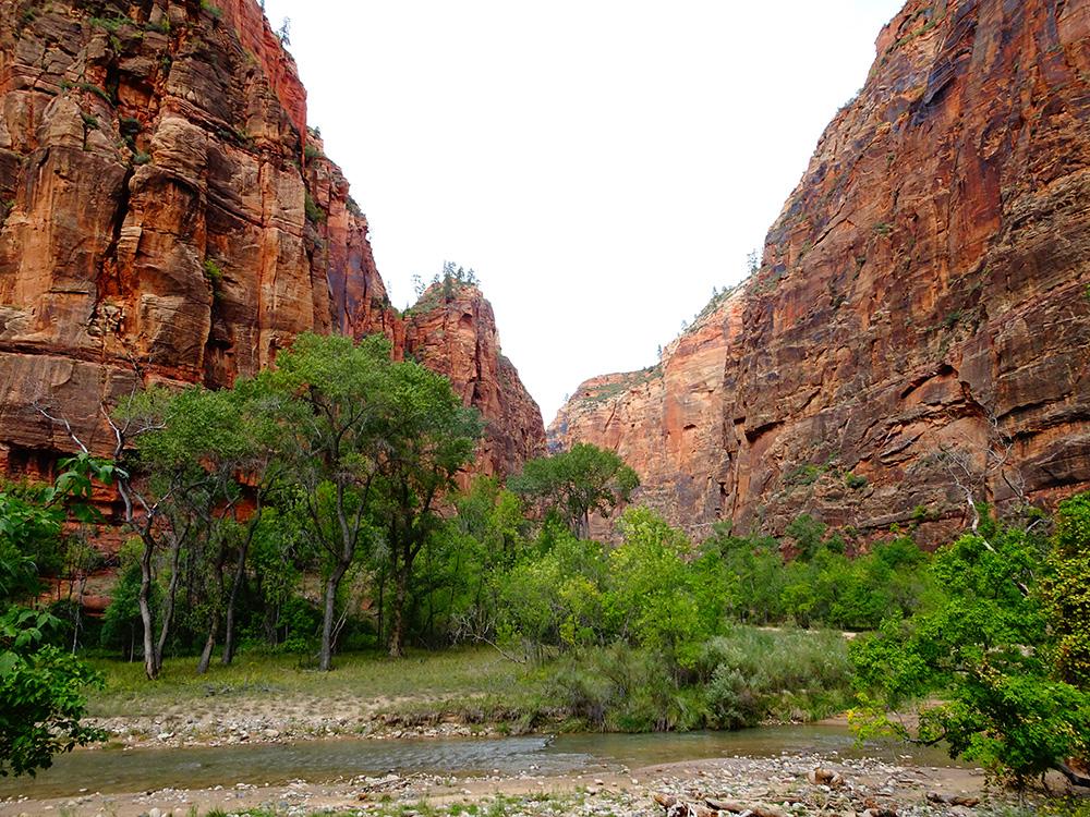 In de canyon