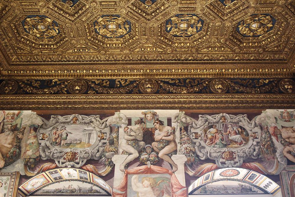 Kunstwerkjes op de plafonds van Palazzo Vecchio