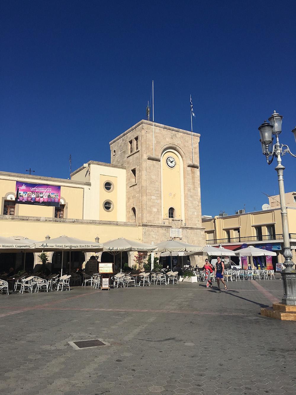 Grote plein in Kos-stad