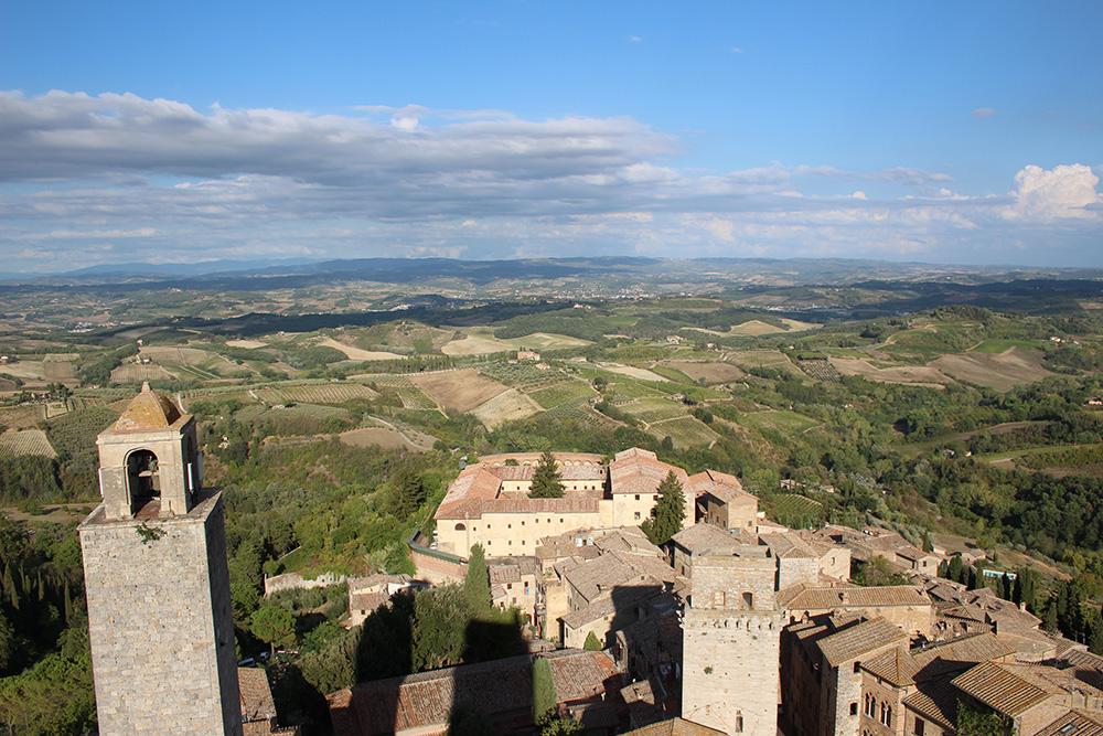Uitzicht over San Gimignano vanaf de Torre Grossa - Toscane