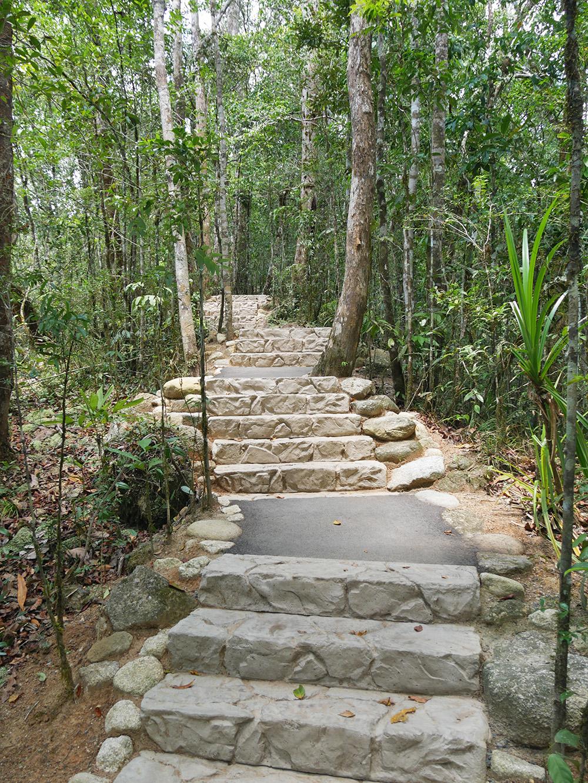 Mooie aangelegde trappen