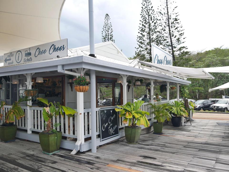 Koffietentje bij de haven van Port Douglas