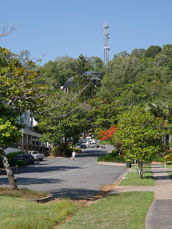 Steile straten in Port Douglas