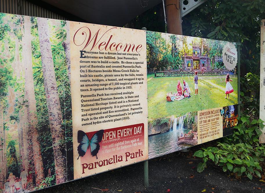 Entreebord van Paronelle Park