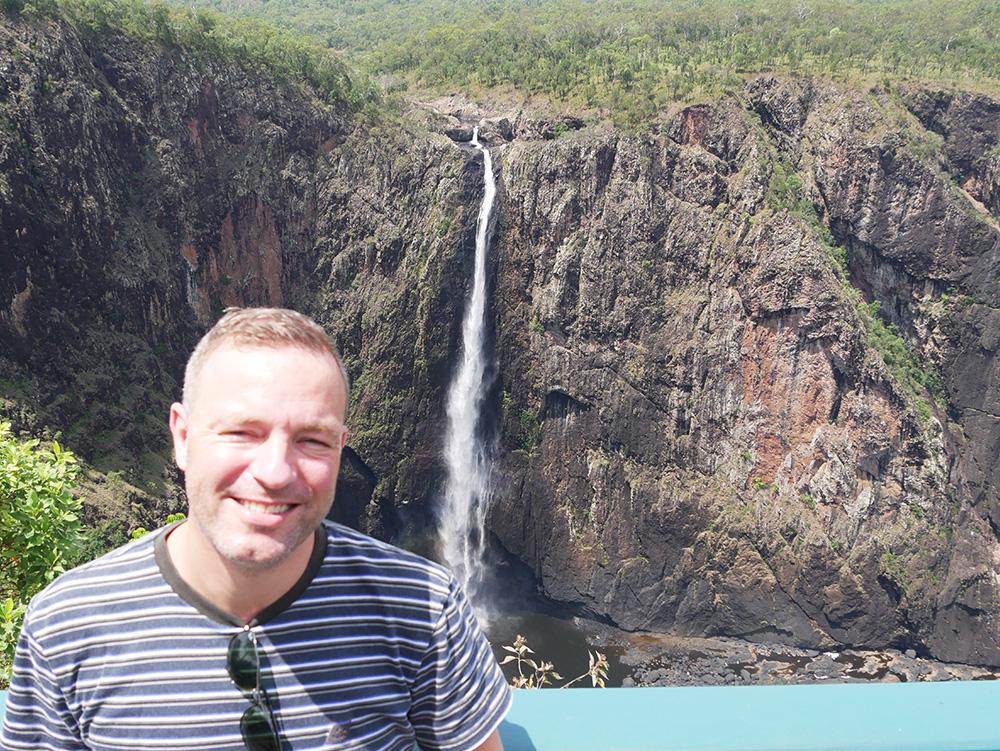 Martin voor de Wallaman Falls