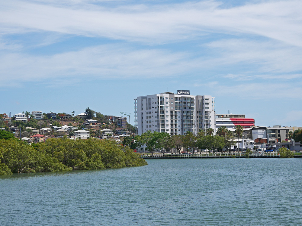 Uitzicht op Oaks Townsville Gateway Suites