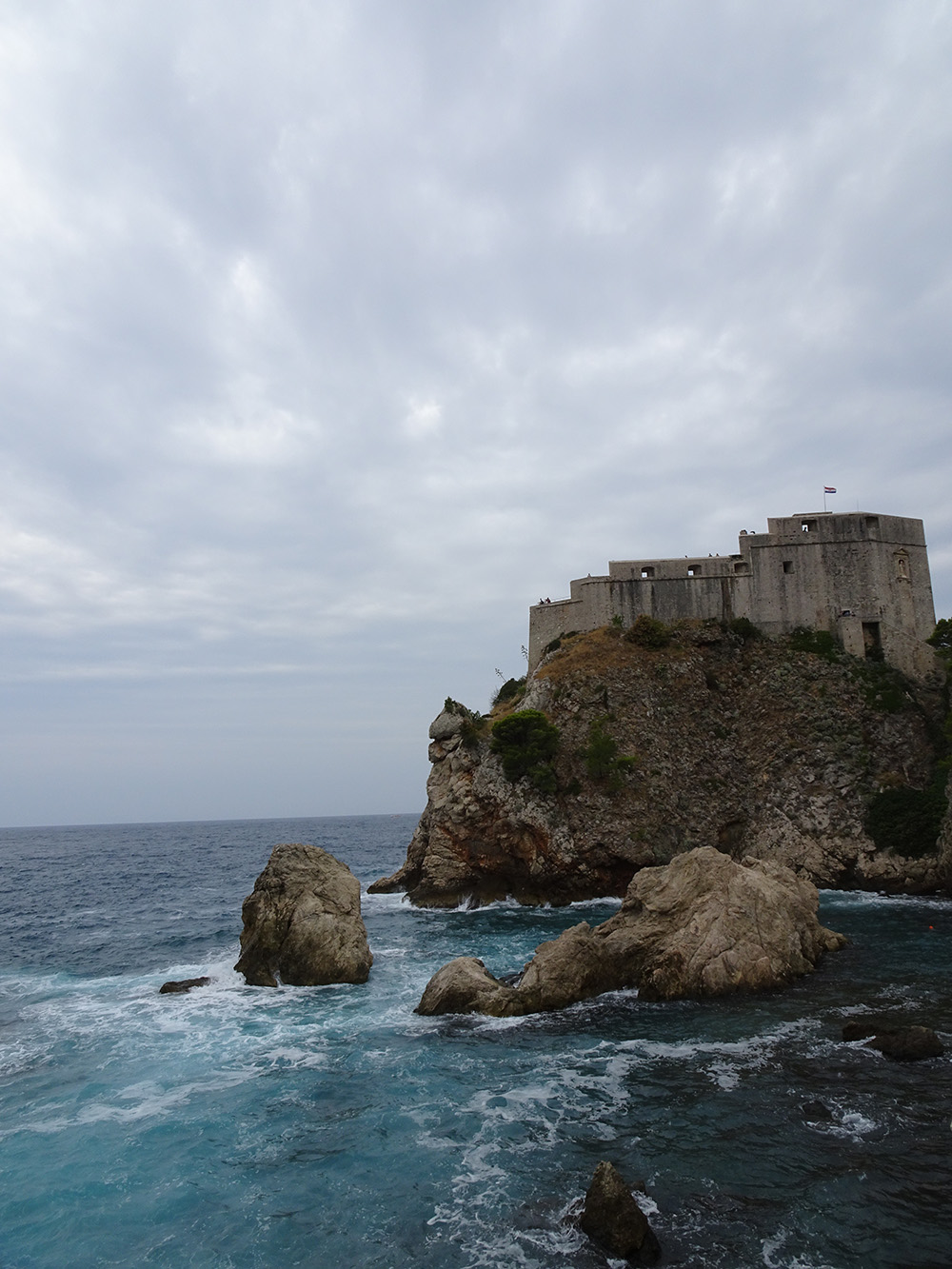 Water en de stadsomwalling in Dubrovnik