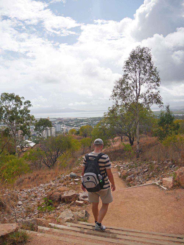 Het laatste stukje van de afdaling - Townsville