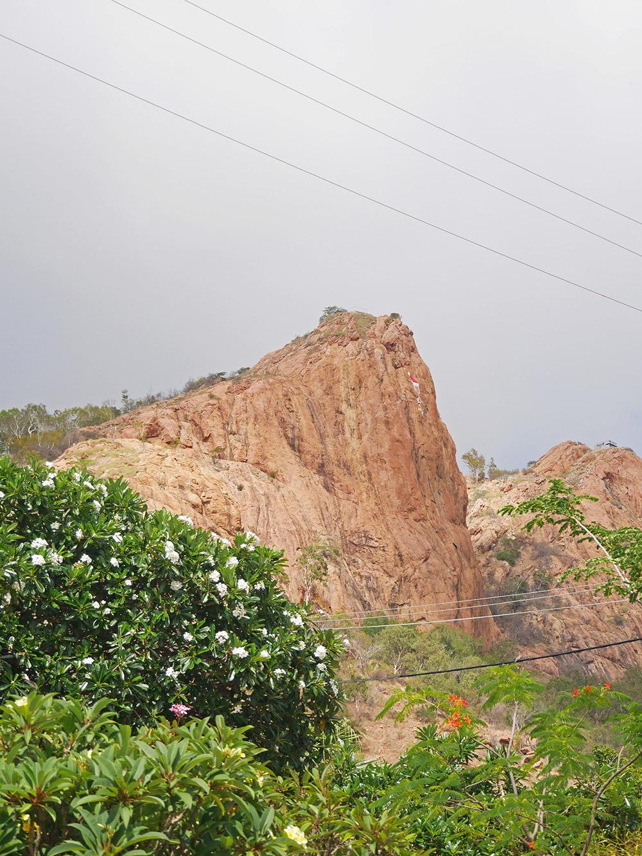 Uitzicht op de top van Castle Hill