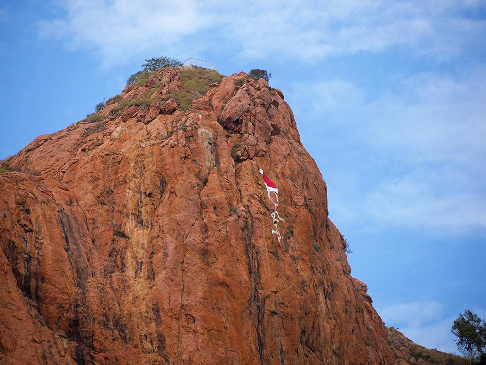 De top van Castle Hill