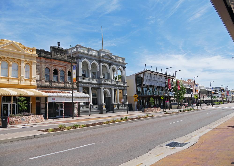 Flinders St - straat met leuke barretjes en restaurants