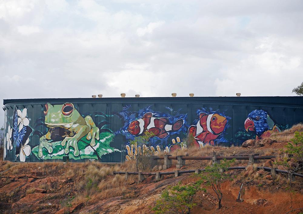 Street art in de buurt van Castle Hill