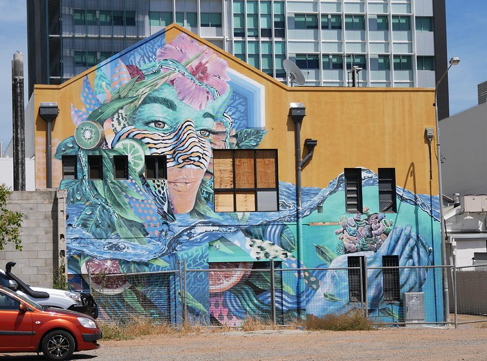 Kleurrijke street art in de stad