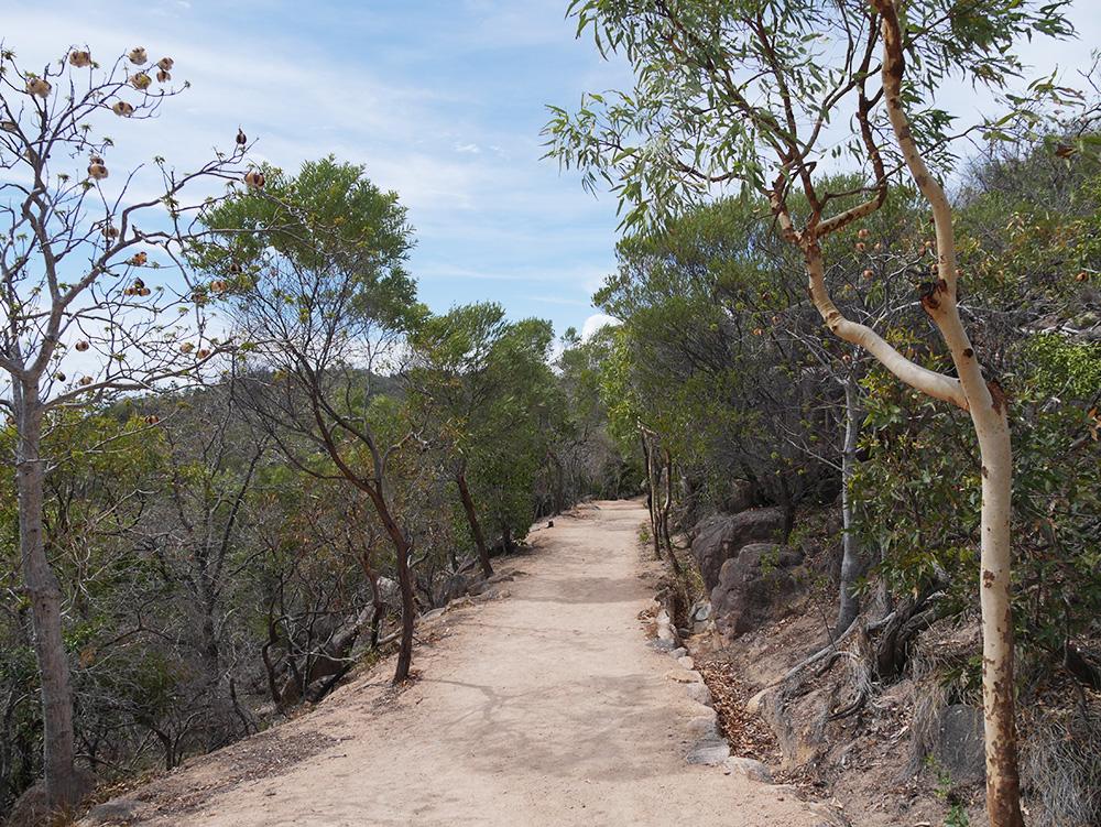 Het pad richting het fort