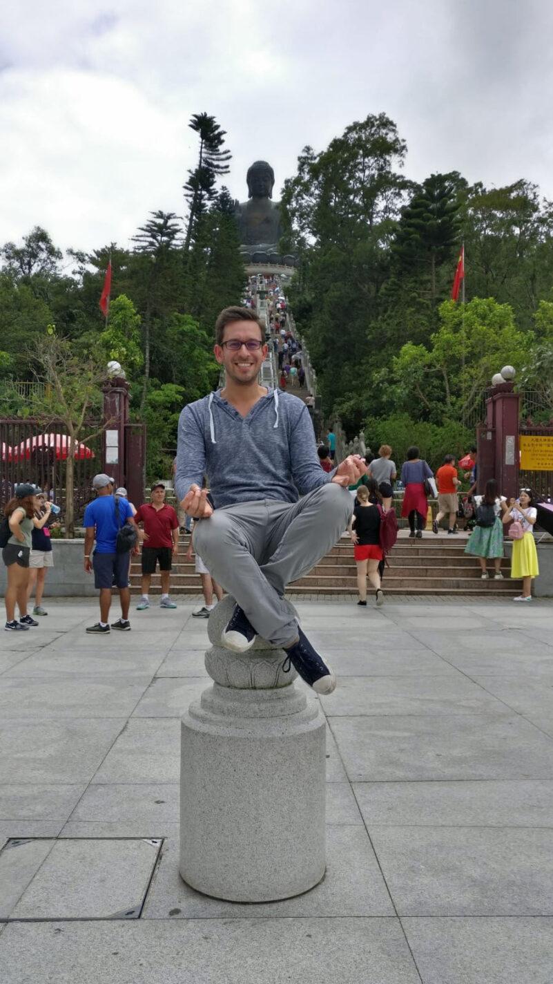 Het bronzen Boeddhabeel op Lantau