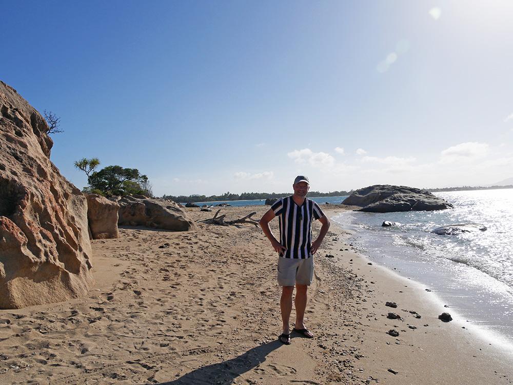 Martin geniet van de omgeving in Bowen