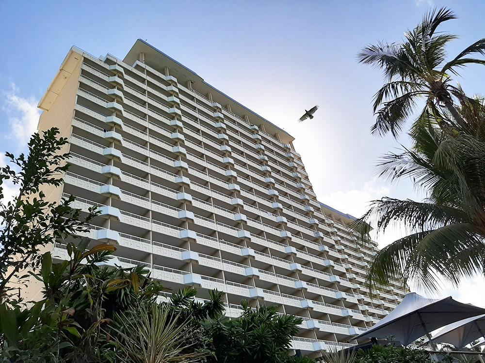 Hamilton Island Reef hotel van de voorkant